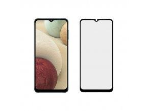 5D Full Glue tvrzené sklo na Samsung Galaxy A12 / A12 5G - černé
