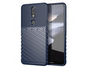 eng pl Thunder Case Flexible Tough Rugged Cover TPU Case for Nokia 2 4 blue 65491 1