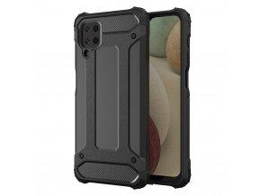 eng pl Hybrid Armor Case Tough Rugged Cover for Samsung Galaxy A12 black 66667 1