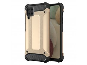 eng pl Hybrid Armor Case Tough Rugged Cover for Samsung Galaxy A12 golden 66669 1