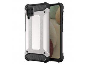 eng pm Hybrid Armor Case Tough Rugged Cover for Samsung Galaxy A12 silver 66670 1