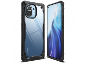 eng pl Ringke Fusion X durable PC Case with TPU Bumper for Xiaomi Mi 11 black FXXI0030 68546 1
