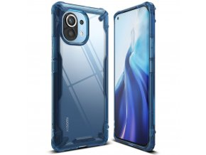 eng pl Ringke Fusion X durable PC Case with TPU Bumper for Xiaomi Mi 11 blue FXXI0031 68547 5