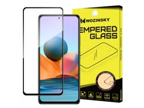 Wozinsky Tempered Glass Full Glue Super Tough Screen Protector Full Coveraged with Frame Case Friendly for Xiaomi Redmi Note 10 Pro black