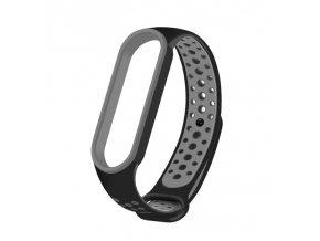 eng pl Replacment band strap for Xiaomi Mi Band 5 Dots black grey 68334 1