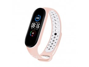 eng pl Replacment band strap for Xiaomi Mi Band 5 Dots pink white 68335 1