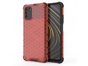 pol pl Honeycomb etui pancerny pokrowiec z zelowa ramka Xiaomi Poco M3 Xiaomi Redmi 9T czerwony 67276 1