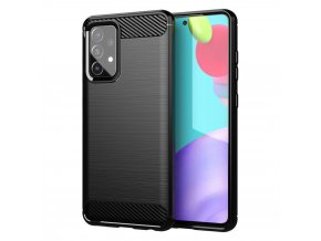 eng pl Carbon Case Flexible Cover TPU Case for Samsung Galaxy A52 5G A52 4G black 69655 1