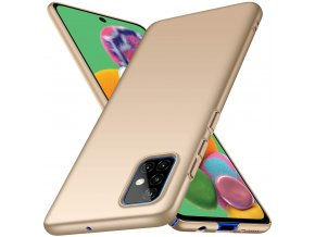 Matný Thin kryt na Xiaomi Redmi Note 10 Pro - zlatý