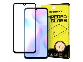 eng pl Wozinsky Tempered Glass Full Glue Super Tough Screen Protector Full Coveraged with Frame Case Friendly for Xiaomi Redmi 9A Redmi 9C black 61836 1