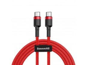 pol pl Baseus Cafule Cable wytrzymaly nylonowy kabel przewod USB C PD USB C PD PD2 0 60W 20V 3A QC3 0 1M czerwony CATKLF G09 46962 1
