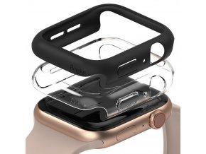 pol pl Ringke Slim Watch Case zestaw 2x etui na zegarem smartwatch Watch 6 40mm Watch 5 40mm Watch 4 40mm Watch SE 40mm przezroczysty czarny S512R228 68507 1