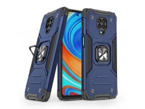 pol pl Wozinsky Ring Armor pancerne hybrydowe etui pokrowiec magnetyczny uchwyt Xiaomi Redmi Note 9 Pro Redmi Note 9S niebieski 66336 1