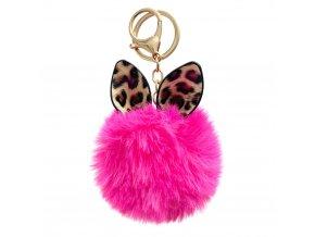 eng pl Fluffy ball pendant pink 72139 1