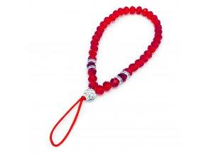 eng pl Phone lanyard pendant string cristal glass beads red 72147 1