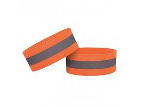 eng pl Reflective strap armband for bike running jogging velcro 4cm orange 69192 1