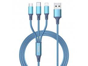 pol pl REMAX Gition kabel przewod 3w1 USB Lightning USB Typ C micro USB 3 1A 1 2m niebieski RC 189th 69698 1