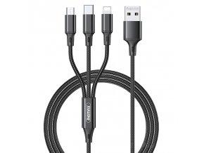pol pl REMAX Gition kabel przewod 3w1 USB Lightning USB Typ C micro USB 3 1A 1 2m czarny RC 189th 69699 1