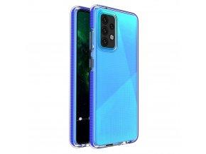 pol pl Spring Case pokrowiec zelowe etui z kolorowa ramka do Samsung Galaxy A52 5G A52 4G ciemnoniebieski 70705 1