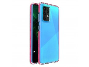 pol pl Spring Case pokrowiec zelowe etui z kolorowa ramka do Samsung Galaxy A52 5G A52 4G ciemnorozowy 70701 1