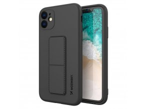 eng pl Wozinsky Kickstand Case flexible silicone cover with a stand iPhone 11 black 69443 1