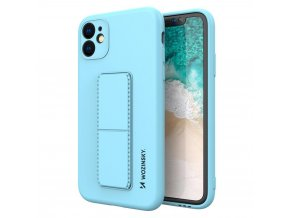 eng pl Wozinsky Kickstand Case flexible silicone cover with a stand iPhone 11 light blue 69447 1