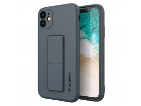 eng pl Wozinsky Kickstand Case flexible silicone cover with a stand iPhone 11 navy blue 69446 1