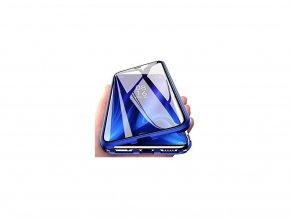 Magnetický oboustranný kryt s tvrzeným sklem na Honor 10 - modrý