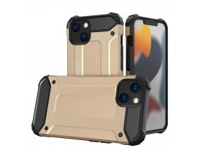 eng pl Hybrid Armor Case Tough Rugged Cover for iPhone 13 golden 74430 1