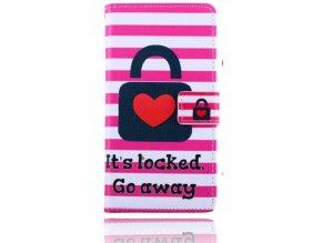 Peněženkové pouzdro na LG G4 (H815) Heart locked  + Doprava zdarma