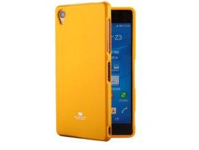 perleťový kryt na Sony xa žlutý