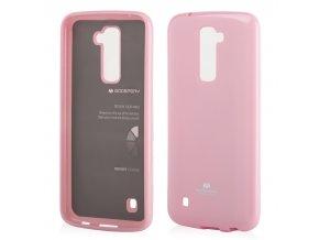 perleťový kryt na LG K 10 světle růžový