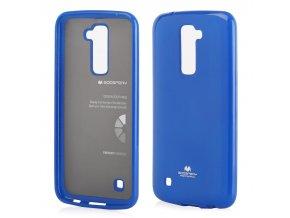 perleťový kryt na LG K 10 modrý