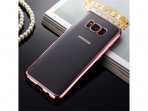 TPU kryt na Samsung S8 růžový okraj