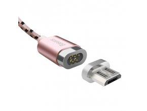 basus magnetický kabel micro usb růžový 1