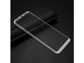 3D tvrzené sklo na Samsung Galaxy S8 stříbrné