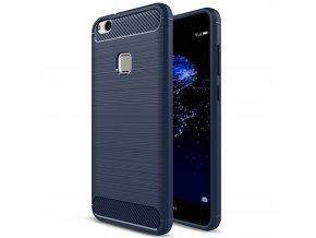 Ohebný carbon kryt na Huawei P10 Lite modrý 1