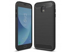 Ohebný carbon kryt na Samsung Galaxy J3 2017 černý 1