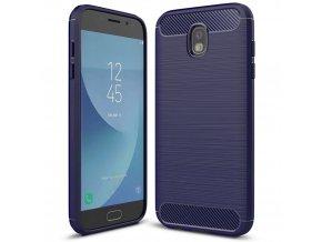 Ohebný carbon kryt na Samsung Galaxy J3 2017 modrý 1