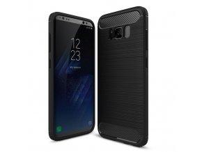Ohebný carbon kryt na Samsung Galaxy S8 černý 1