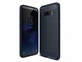 Ohebný carbon kryt na Samsung Galaxy S8 modrý 1