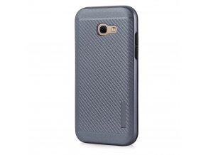 Odolný karbonový kryt na Samsung Galaxy A3 2017 šedý