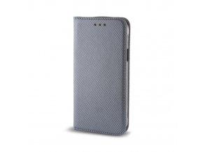 Flipové magnetické pouzdro na Huawei Y6 II stříbrné