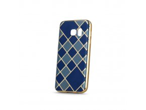 Silikonový Geometric obal modro zlatý