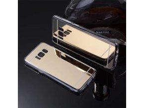 Zrcadlový silikonový kryt na Samsung Galaxy S8 zlatý 1