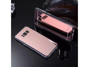 Zrcadlový silikonový kryt na Samsung Galaxy S8 růžový 1