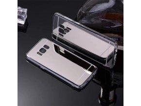 Zrcadlový silikonový kryt na Samsung Galaxy S8 stříbrný 1