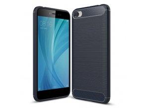 Ohebný carbon kryt na Xiaomi Redmi Note 5A modrý