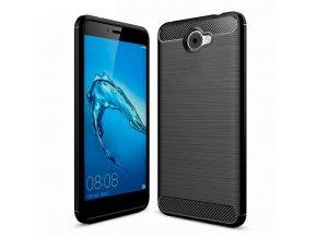Ohebný carbon kryt na Huawei Y7 černý 1