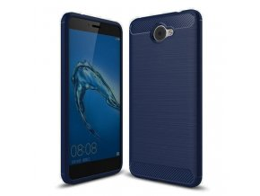 Ohebný carbon kryt na Huawei Y7 modrý 1
